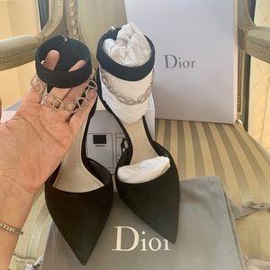 Dior black suede '900 Noir' heels SIZE 38